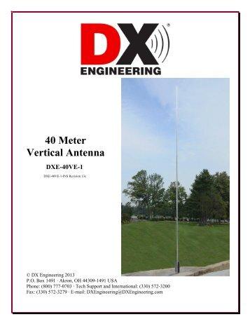 40 Meter Vertical Antenna DXE-40VE-1 - DX Engineering