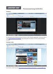 Presseauswertung 16.09.2011 - HANSA  Baugenossenschaft eG