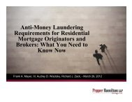 Anti-Money Laundering Requirements for Residential Mortgage ...