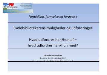 Eiler Jensens præsentation