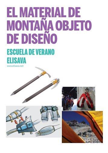 El material de montaña objeto de diseño (PDF 2.8 MB) - ELISAVA