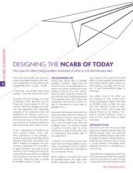 DESIGNING THE NCARB OF TODAY