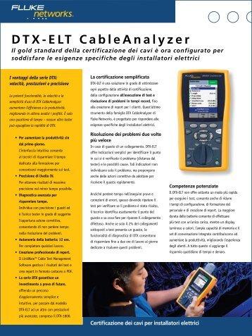 DTX-ELT CableAnalyzer - Gfo Europe S.p.A.
