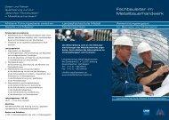 Fachbauleiter im Metallbauerhandwerk - Landesfachschule Metall