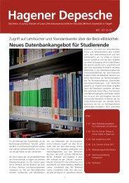 Hagener Depesche Nr. 21 - FernUniversität in Hagen