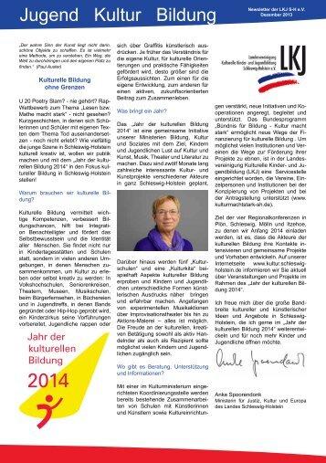 2013/2 Newsletter Schwerpunkt Literatur - LKJ SH eV