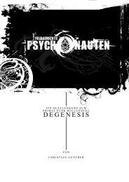 Das erste Kapitel der FELDBERICHTE: Psychonauten - Degenesis