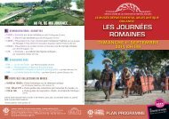 Télécharger le plan programme - Musée départemental Arles antique