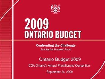 Ontario Document 2009