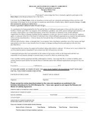 RELEASE AND WAIVER OF LIABILITY AGREEMENT 35-A District ...