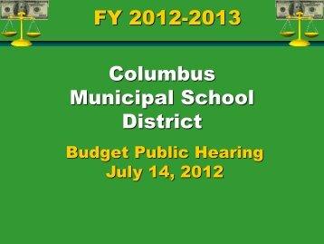 2012 Public Budget Hearing Presentation - Columbus Municipal ...