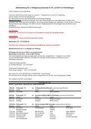 Zeiteinteilung für´s Voltigierwochenende 9./10. Juli 2011 in ...