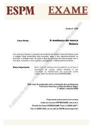 Mudança da marca Natura, A - Banco de Publicações do Corpo ...