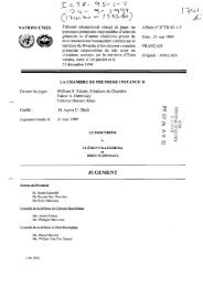 JUGEMENT - International Criminal Tribunal for Rwanda