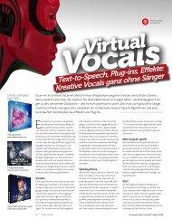 Text-to-Speech, Plug-ins, Effekte: Kreative Vocals ... - marco scherer