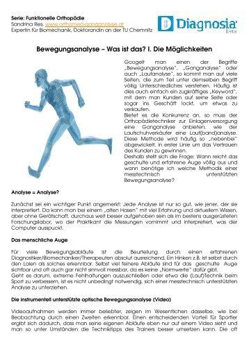 Bewegungsanalyse - OrthoMed Ganganalyse