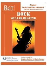 Rock Guitar information booklet - University of West London