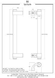 Tehnički crteži rukohvata za vrata u .pdf formatu - Lyctum