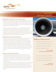 Industry Solutions Aerospace Logistics - Agility