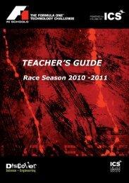 TEACHER'S GUIDE - F1 in Schools