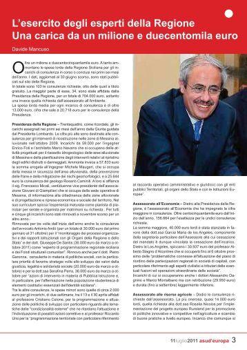 L'esercito degli esperti della Regione Una carica da ... - Guida Sicilia
