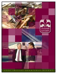 LRA Quarterly Report - Louisiana Recovery Authority