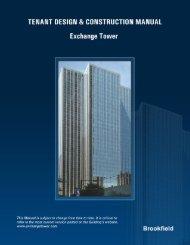 Tenant Design & Construction Manual - Brookfield Properties