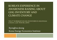 Korea's Experience in Awareness Raising About GHG Inventory and ...