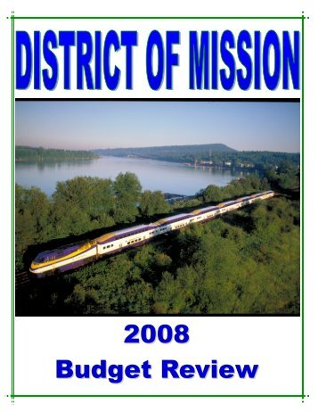 2008 Budget Review - District of Mission