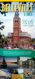 Discover our attractions, culture and the arts ... - City of Belleville