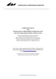 IOF MTB Orienteering Competition Rules 2010 - International ...