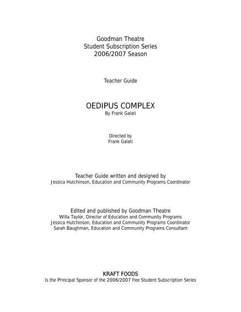 OEDIPUS COMPLEX - Jones College Prep