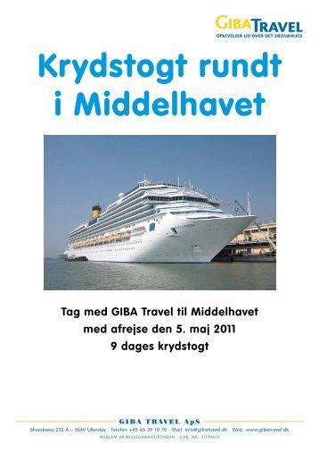 Krydstogt rundt i Middelhavet - GIBA Travel