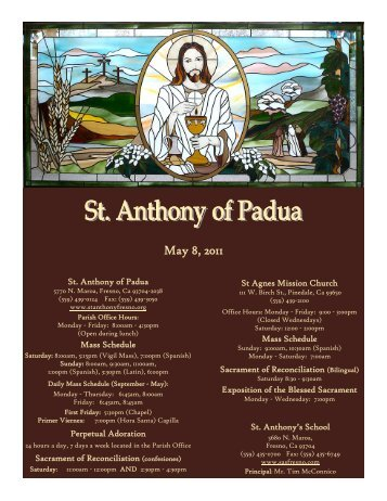 May 8, 2011 - St. Anthony of Padua Catholic Church