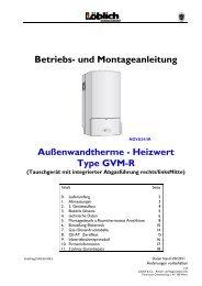 Heizwert Type GVM-R - Löblich