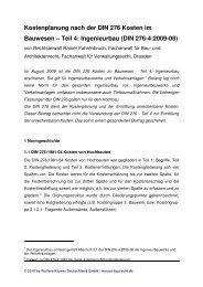Kostenplanung nach der DIN 276 Kosten im ... - Werner Baurecht