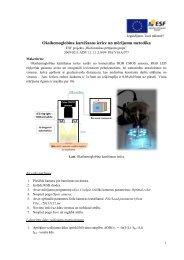 Oksihemoglobīna kartēšanas ierīce un mērījumu metodika
