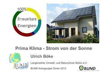 Prima Klima - Strom von der Sonne - BUND