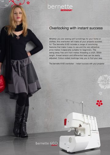 Overlocking with instant success - Bernina