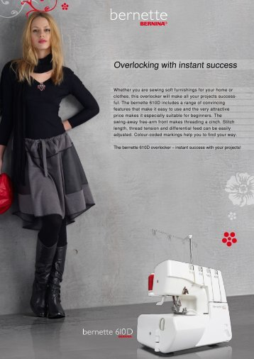 Overlocking with instant success - Bernina