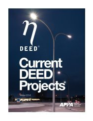 Current DEED projects - American Public Power Association
