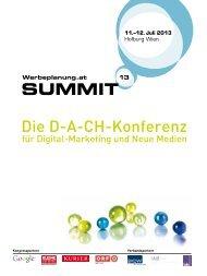SUMMIT Die D-A-CH-Konferenz - Werbeplanung.at Summit