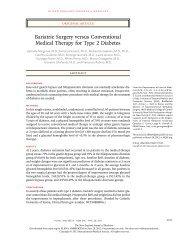 Bariatric Surgery versus Conventional Medical ... - Internal Medicine