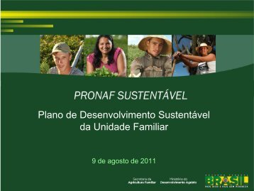 Plano de Desenvolvimento Sustentável da Unidade Familiar