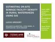 estimating on-site sewage facility density in rural watersheds using gis