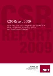 CSR-Report 2009 - Neue Heimat Tirol