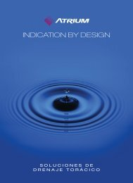 INDICATION BY DESIGN - Atrium Medical Corporation