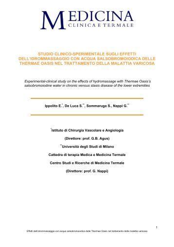 studio clinico-sperimentale sugli effetti dell'idrommassaggio con ...