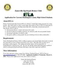 Zanesville Daybreak Rotary Club