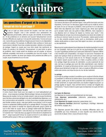 Question d'argent - Impact Mauricie